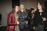 Emma Sergeant,  Princess Michael of Kent and Jill Duchess of Hamilton, Misadventure In the Middle East. Travels As a Tramp, Artist and Spy by Henry Hemming. Book launch and exhibition. Paradise Row. London. E2.  -DO NOT ARCHIVE-© Copyright Photograph by Dafydd Jones. 248 Clapham Rd. London SW9 0PZ. Tel 0207 820 0771. www.dafjones.com.