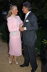 HRH PRINCESS MICHAEL OF KENT and ARNAUD BAMBERGER at the annual Cartier Flower Show Diner held at The Physics Garden, Chelsea, London on 23rd May 2005.<br /><br />NON EXCLUSIVE - WORLD RIGHTS