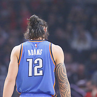 21 December 2015: Oklahoma City Thunder center Steven Adams (12) is seen during the Oklahoma City Thunder 100-99 victory over the Los Angeles Clippers, at the Staples Center, Los Angeles, California, USA.