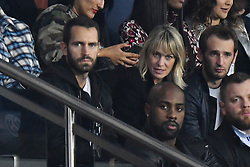 File photo of Robin Wright Penn and Clement Giraudet, here with her son Hopper (R), attending the UEFA Champions League Paris Saint-Germain (PSG) v Bayern Munich football match at the Parc des Princes stadium on September 27, 2017 in Paris, France. According to Pagesix, the Wonder Woman star is spending the holidays skiing with a handsome new beau, Clement Giraudet, worldwide VIP relations manager at upscale French fashion house Saint Laurent, in Tahoe City, California. House of Cards icon Wright, 51, and debonair Frenchman Giraudet were first pictured looking cozy together in September during Paris fashion week at a soccer match at Parc des Princes Stadium. Photo by Laurent Zabulon/ABACAPRESS.COM