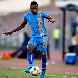Strydom Wambi of Royal Eagles FC during the Premier Soccer League (PSL) promotion play-off  match between  Royal Eagles and Maritzburg United F.C. at the Chatsworth Stadium Durban.South Africa,29,05,2019