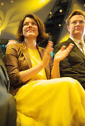 Liberal Democrats<br /> Autumn Conference 2011 <br /> at the ICC, Birmingham, Great Britain <br /> <br /> 17th to 21st September 2011 <br /> <br /> <br /> Miriam Gonzalez Durantez &amp; Rt Hon Danny Alexander MP <br /> watching Nick Clegg's speech <br /> <br /> Rt Hon Nick Clegg MP<br /> Leader of the Liberal Democrats<br /> Deputy Prime Minister<br /> Speech <br /> <br /> Photograph by Elliott Franks