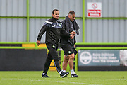 Forest Green Rovers manager, Mark Cooper and Forest Green Rovers assistant manager, Scott Lindsey during the Pre-Season Friendly match between Forest Green Rovers and Bristol Rovers at the New Lawn, Forest Green, United Kingdom on 22 July 2017. Photo by Shane Healey.