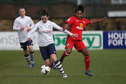 Preston Midfielder Danielle Young during the FA Women's Lancashire Cup Final match between Preston North End Ladies and Blackburn Rovers Women at the County Ground, Leyland, United Kingdom on 28 April 2016. Photo by Pete Burns.