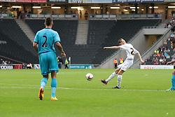 MK Dons's Will Summerfield (26) shoots during the pre-season friendly game between MK Dons and Tottenham XI.  Photo mandatory by-line: Nigel Pitts-Drake/JMP  - Tel: Mobile:07966 386802 31/07/2013 - MK Dons v  Tottenham XI  - SPORT - FOOTBALL - pre-season - Milton Keynes - Stadium MK