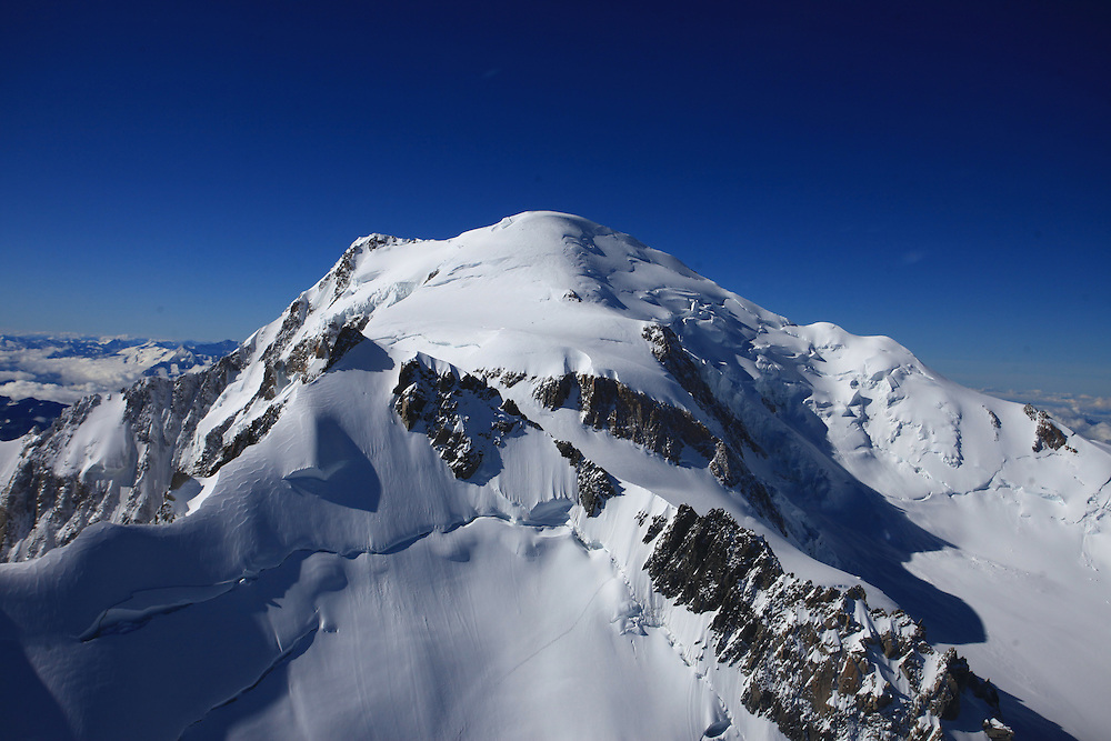 Mt Blanc, Chamonix, 4810, Highest Peak, 4810 meters, Helicopter View, Alps,