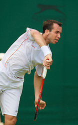 LONDON, ENGLAND - Tuesday, June 24, 2008: Radek Stepanek (CZE) during his first round match on day two of the Wimbledon Lawn Tennis Championships at the All England Lawn Tennis and Croquet Club. (Photo by David Rawcliffe/Propaganda)