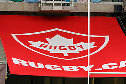 March 9, 2019 - Vancouver, BC, U.S. - VANCOUVER, BC - MARCH 10: Rugby Canada sign during the Canada Sevens held March 9-10, 2019 at BC Place Stadium in Vancouver, BC, Canada.(Photo by Allan Hamilton/Icon Sportswire) (Credit Image: © Allan Hamilton/Icon SMI via ZUMA Press)