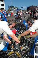 DURBAN, South Africa, the Team GBR crew preparing the car for the Feature race on Sunday held as part of the A1GP race weekend in Durban, South Africa on Sunday 24 February 2008.  Photo: SportsPics/Sportzpics
