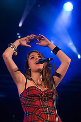 Gabriella Cilmi on stage at the Futures stage, Saturday, T in the Park 2008..©2007 Michael Schofield. All Rights Reserved.