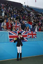 Christiansen, Sophie, <br /> London Paralympics 2012<br /> Siegerehrung Garde III + Garde 1a<br /> © www.sportfotos-lafrentz.de/ Stefan Lafrentz