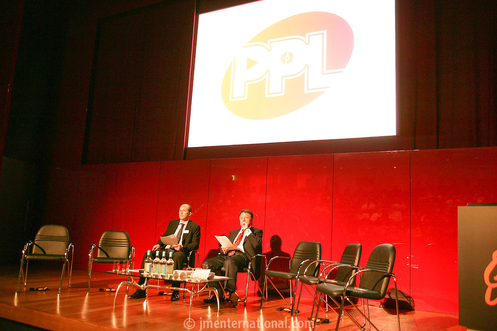Fran Nevrkla (Chairman and CEO PPL) and Peter Leathem, Director of Legal and Business Affairs and Rights Negotiation