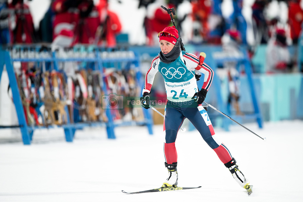 February 12, 2018 - Pyeongchang, SOUTH KOREA - 180212  Tiril Eckhoff of Norway competes in the Women's Biathlon 10km Pursuit during day three of the 2018 Winter Olympics on February 12, 2018 in Pyeongchang..Photo: Jon Olav Nesvold / BILDBYRN / kod JE / 160156 (Credit Image: © Jon Olav Nesvold/Bildbyran via ZUMA Press)