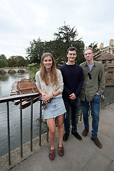 UK ENGLAND CAMBRIDGE 6SEP16 - Inigo Grose (19, L), Edward Deddows  (19, C) and Charlottte Sanderson (19) - students from Cambridge at Cambridge city centre.<br /> <br /> jre/Photo by Jiri Rezac<br /> <br /> © Jiri Rezac 2016