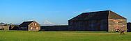 USA, Washington, Fort Vancouver National Historic Site. Digital Composite, panorama.