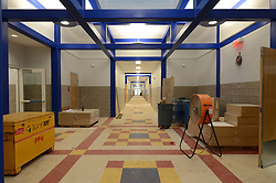 Hanover Elementary School - Kindergarten Addition<br /> James R Anderson Photographer | photog.com 203-281-0717<br /> Andrade Architects, LLC. Enfield Builders, Inc.<br /> Photography Date: 9 October 2012<br /> Camera View: Hallway looking South, at Atrium<br /> Image Number 20
