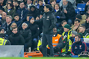 Arsenal manager Mikel Arteta during the Premier League match between Chelsea and Arsenal at Stamford Bridge, London, England on 21 January 2020.