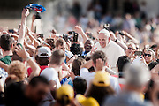 Rome oct 7th 2015, weekly general audience in St Peter's Square. In the picture pope Francis