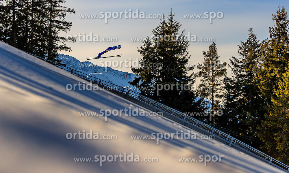 28.01.2017, Casino Arena, Seefeld, AUT, FIS Weltcup Nordische Kombination, Seefeld Triple, Skisprung, im Bild Philipp Orter (AUT) // Philipp Orter of Austria in action during his Trail Jump of Skijumping of the FIS Nordic Combined World Cup Seefeld Triple at the Casino Arena in Seefeld, Austria on 2017/01/28. EXPA Pictures © 2017, PhotoCredit: EXPA/ JFK