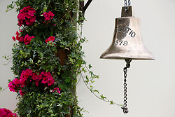 Detail of a bell during day one of Royal Ascot at Ascot Racecourse.