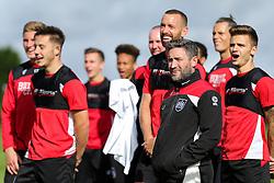 Bristol City manager Lee Johnson looks on as Bristol City play Football Darts from Bristol Bubble Ball Ltd after training - Rogan Thomson/JMP - 30/09/2016 - FOOTBALL - Failand Training Ground - Bristol, England.