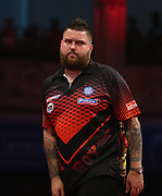 Michael Smith during the last 8 World Matchplay Darts 2019 at Winter Gardens, Blackpool, United Kingdom on 25 July 2019.