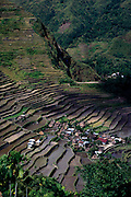 Fabled rice terraces of Banaue, one of the wonders of the world, Luzon Island, Philippines