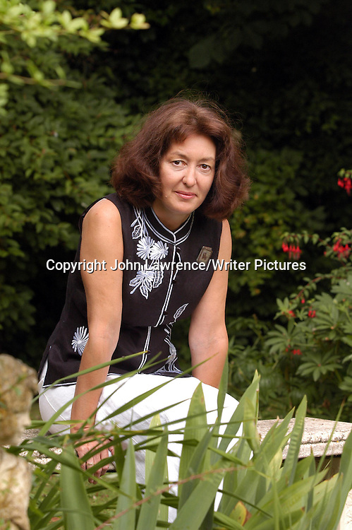 Geraldine McCaughrean,  author<br /> <br /> copyright John Lawrence/Writer Pictures<br /> contact +44 (0)20 822 41564<br /> info@writerpictures.com<br /> www.writerpictures.com