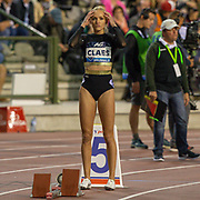Hanne Claes (Belgium) before the Women's 400m Hurdles during the IAAF Diamond League event at the King Baudouin Stadium, Brussels, Belgium on 6 September 2019.