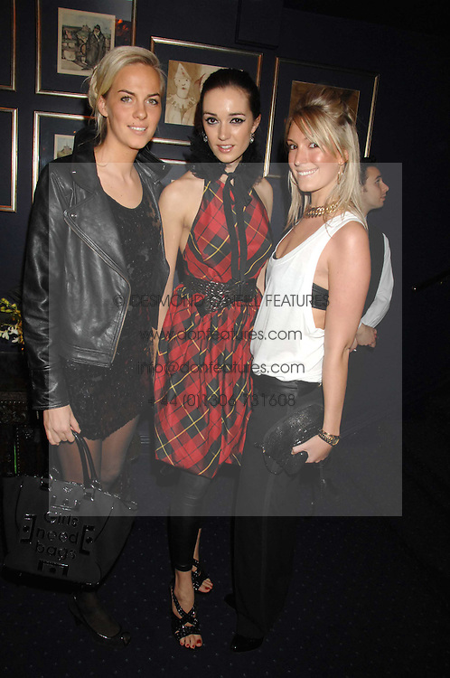 Left to right, LADY LOUISA COMPTON, SOPHIA ROGGE and OLIVIA BUCKINGHAM at a party to celebrate the publication of the 2007 Tatler Little Black Book held at Tramp, 40 Jermyn Street, London on 7th November 2007.<br /><br />NON EXCLUSIVE - WORLD RIGHTS