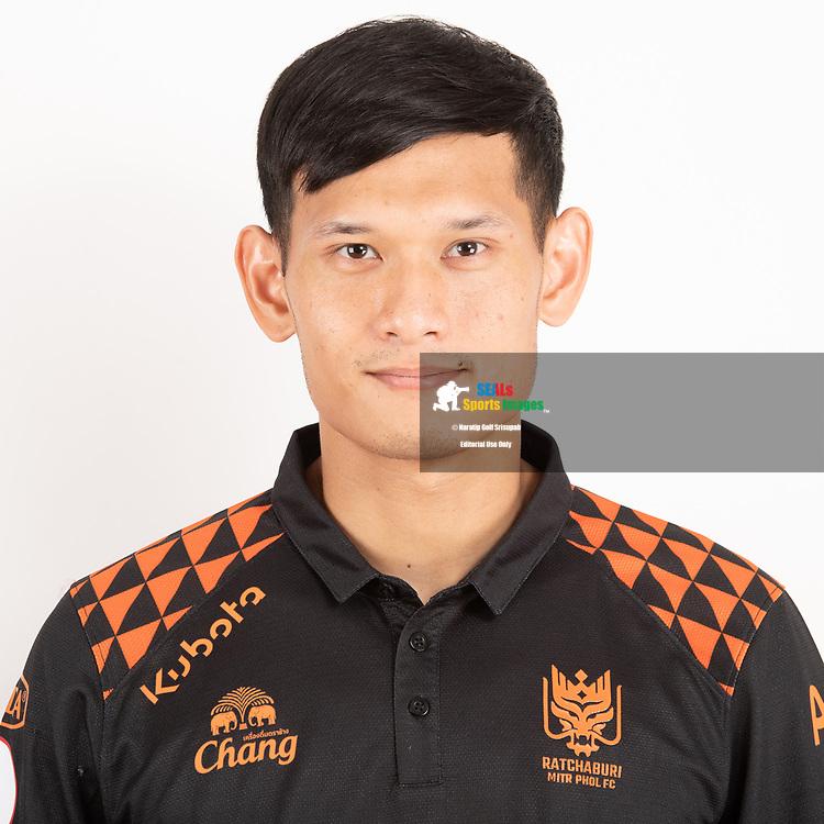 THAILAND - JUNE 24: Ukrit Wongmeema #27 of Ratchaburi Mitr Phol FC on June 24, 2019.<br /> .<br /> .<br /> .<br /> (Photo by: Naratip Golf Srisupab/SEALs Sports Images/MB Media Solutions)