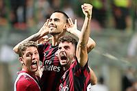 c - Milano - 27.08.2017 - Milan-Cagliari - Serie A 2a giornata   - nella foto:  Suso esulta insieme a Patrick Cutrone  dopo il gol del 2 a 1