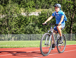 01.07.2016, Athletic Area, Schladming, AUT, U19 EURO, Vorbereitung Deutschland, DFB U19 Junioren, im Bild Marvin Mehlem (Karlsruher SC, Deutschland U19) unterwegs mit einem Mountainbike // during a training camp of Team Germany for preparation for the UEFA European Under-19 Championship at the Athletic Area, Austria on 2016/07/01. EXPA Pictures © 2016, PhotoCredit: EXPA/ Martin Huber