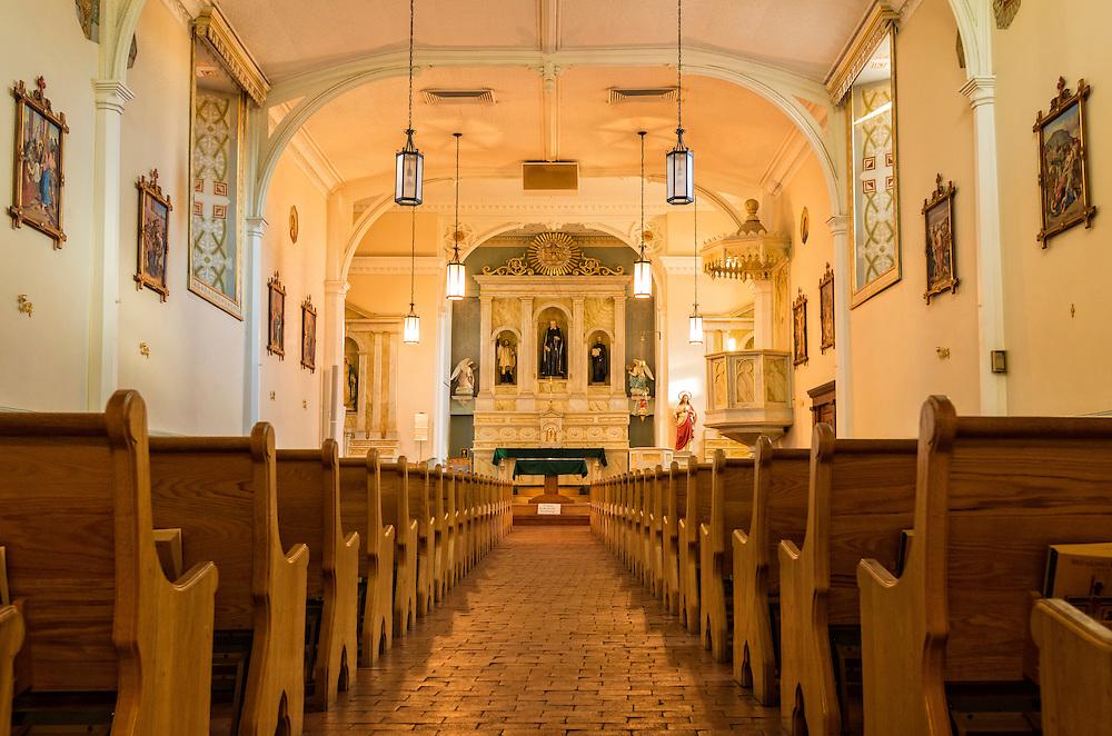 San Felipe de Neri Church in Old Town Albuquerque, New Mexico.