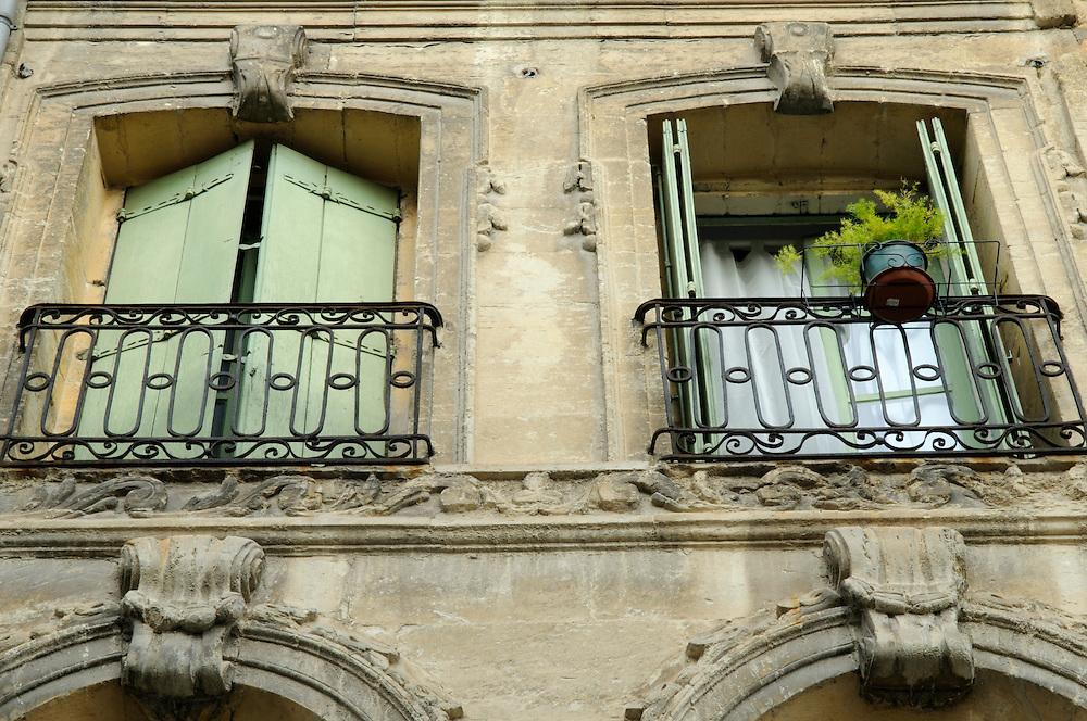 France, Languedoc Roussillon, Gard (30), Uzès, 16 rue Jacques d'Uzès, façade, inscrit à l'inventaire supplémentaire des monuments historiques