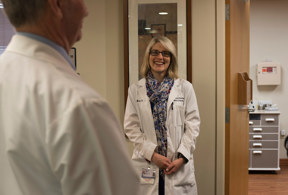 Research nurse Marci Nilsen at UPMC ENT Hospital in Oakland.