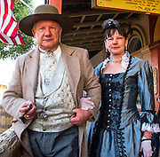 "Visitors to the 19th century Wild West. When I asked them to smile a little, he said "" in old pictures people rarely smiled""  and this seems to be correct.  Old Tombstone, Arizona."