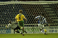 Photo: Aidan Ellis.<br /> Huddersfield Town v Swansea City. Coca Cola League 1. 30/12/2006.<br /> huddersfield's Pawel Abbott scores the third goal from the penalty spot