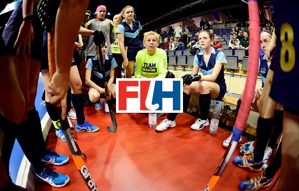 BERLIN - Indoor Hockey World Cup<br /> Women: Ukraine - Australia<br /> foto: MAKAIEVA Svitlana.<br /> WORLDSPORTPICS COPYRIGHT FRANK UIJLENBROEK