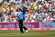 Moeen Ali of Worcestershire Rapids hits a shot down the ground during the Vitality T20 Finals Day 2019 match between Notts Outlaws and Worcestershire Rapids at Edgbaston, Birmingham, United Kingdom on 21 September 2019.