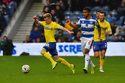 Ezgjan Alioski (10) of Leeds United has his heels clipped by Darnell Furlong (2) of Queens Park Rangers during the The FA Cup 3rd round match between Queens Park Rangers and Leeds United at the Loftus Road Stadium, London, England on 6 January 2019.