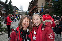 Born and raised in Whistler, olympic athlete Julia Murray smiles for a portrait in Whistler village during the 2010 Olympic Winter Games in Whistler, BC Canada.