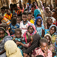 Dar Es Salam refugee camp, Lake region, Chad. <br /> <br /> The community school created with the contributions of the villagers. 110 students Split in three differents level are registered in the school. <br /> <br /> Sylvain Cherkaoui/Cosmos for MSF