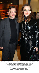 SEBASTIAN CONRAN son of Sir Terence Conran and GERTRUDE THOME, at a party in London on 3rd December 2003.  PPH 53