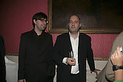 MATT THORNE AND TIBOR FISCHER, Literary Review's Bad Sex In Fiction Prize.  In & Out Club (The Naval & Military Club), 4 St James's Square, London, SW1, 29 November 2006. <br />Ceremony honouring author who writes about sex in a 'redundant, perfunctory, unconvincing and embarrassing way'. ONE TIME USE ONLY - DO NOT ARCHIVE  © Copyright Photograph by Dafydd Jones 248 CLAPHAM PARK RD. LONDON SW90PZ.  Tel 020 7733 0108 www.dafjones.com
