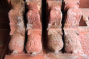 India, Uttar Pradesh, Agra, Agra Fort bas-relief decorations