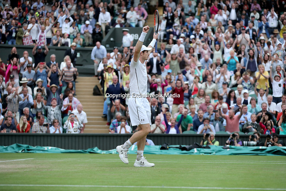 WIMBLEDON - GB -  6th July 2016: The Wimbledon Tennis Championship at the All England Lawn Tennis Club in S.E. London.<br /> <br /> Andy Murray vs Jo-Wilfried TSONGA<br /> &copy;Ian Jones/ Exclusivepix Media