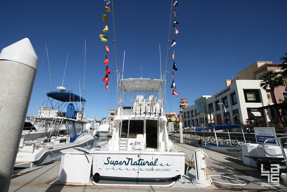 Sport fishing boat Super Natural in Cabo San Lucas, Baja California Sur, Mexico.