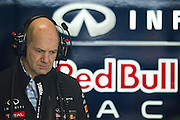 February 21, 2013 - Barcelona Spain. Adrian Newey during pre-season testing from Circuit de Catalunya.