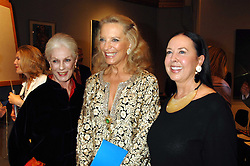 Left to right, BARONESS FIONA THYSSEN-BORNEMIZA, HRH PRINCESS MICHAEL OF KENT and LYN ROTHMAN at an auction in aid of The Parkinson's Appeal for Deep Brain Stimulation 'Meeting of Minds' held at Christie's, King Street, London SW1 followed by a dinner at St.John, 26 St.John Street, London on 16th October 2007.<br /><br />NON EXCLUSIVE - WORLD RIGHTS